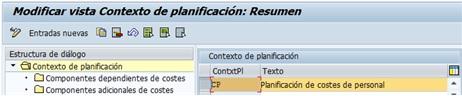 Creación de componentes de coste dependientes en SAP