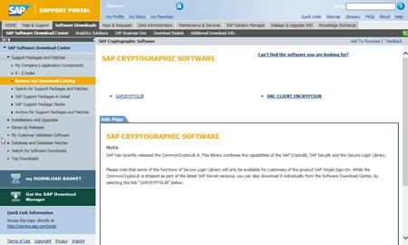 Configuración SAP SNC: SAP Cryptographic Software
