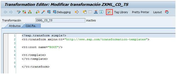 Implementación de la lógica de la transformación para procesar XML con ABAP
