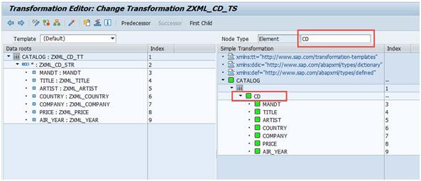 Renombrar nodo ABAP para procesamiento XML