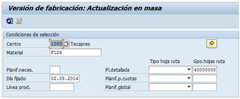 SAP PP: Crear versiones de fabricación desde el maestro de versiones