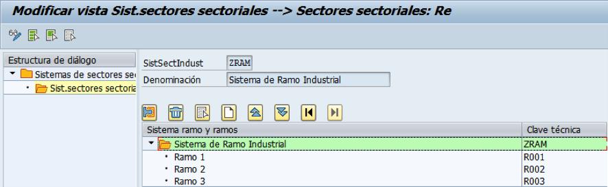 Creación del sistema de sector industrial a aplicar en el maestro de BPs