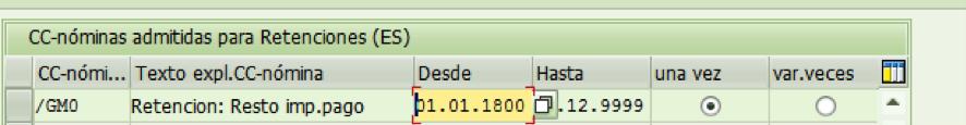 Deducción porcentual en retención infotipo 0887