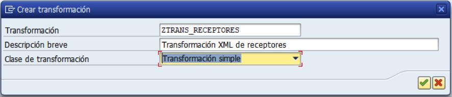 SAP: Transformación simple XML