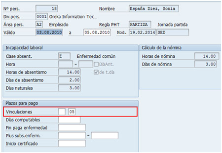 Informar sobre recaídas en SAP PY - Infotipo 2001