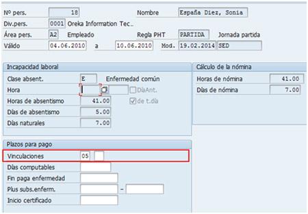 SAP PY - Infotipo 2001