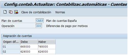 SAP FI - Contabilizar diferencias