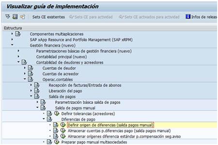 SAP FI - Definir orígenes de diferencias