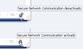 Secure Network Communication activado