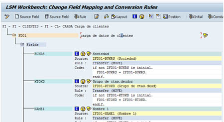 Configurar SAP LSMW: Actualización valores fijos y reglas