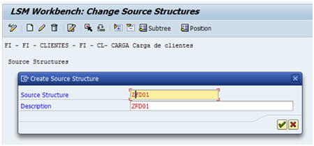 Configurar LSMW: Actualizar estructuras de origen