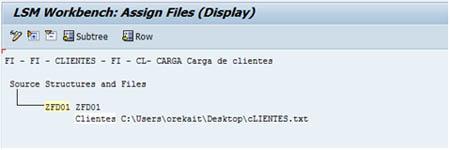 SAP LSMW: Asignación del fichero elegido