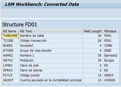 LSMW: Datos convertidos