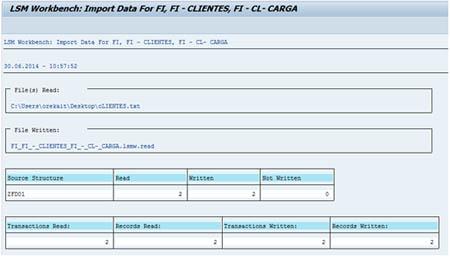 Carga de datos LSMW: Lectura de fichero