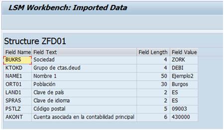 SAP LSMW: Comprobar datos cargados