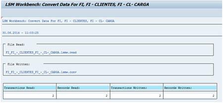 LSMW SAP: Conversión datos leídos