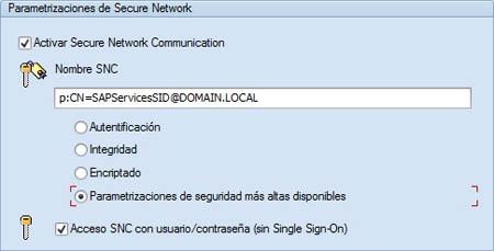 Parametrizaciones Secure Network