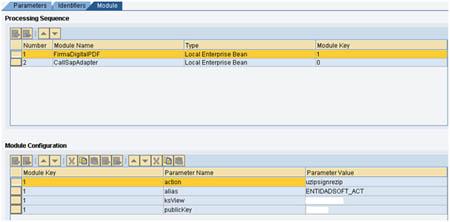 Configuración del módulo de firma electrónica
