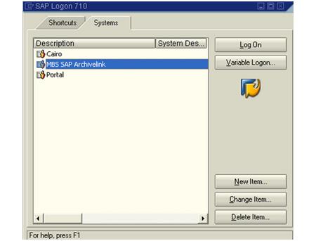 SAP GUI: Cliente SAP