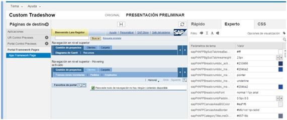 SAP Portal: UI Theme Designer como alternativa al Theme Editor