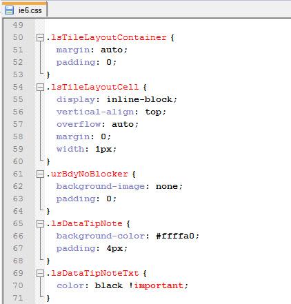 Fichero CSS generado por el UI Theme Designer