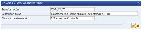 Creación de transformación simple para procesamiento XML en ABAP