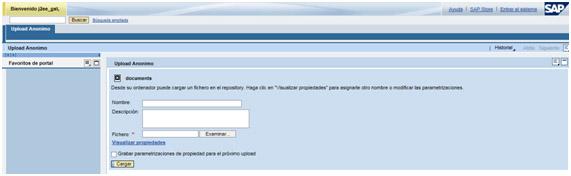 Visualizar contenido anónimo SAP Enterprise Portal