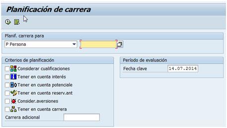 Planificación de carreras en SAP
