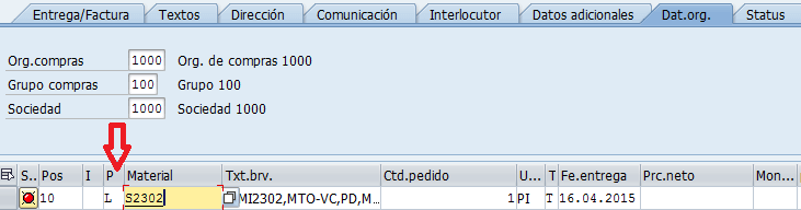 SAP MM, transacción ME21N para crear el pedido de compras