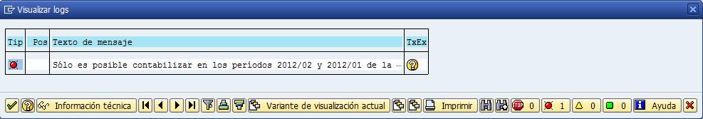 SAP MM, mensaje de error en la contabilización del material