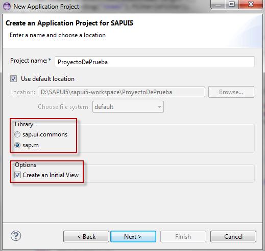 SAPUI5, especificaciones del proyecto
