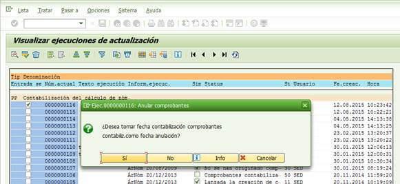 SAP FI: Seleccionar fecha de anulación de la contabilización de la nómina