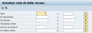 SAP HCM, actualizar vista de la tabla