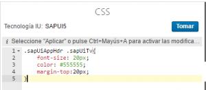 UI theme designer, modificar estilo mediante css
