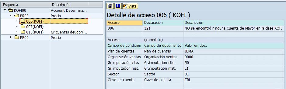 SAP MM, detalle de acceso