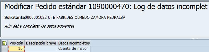 SAP MM, modificar pedido estandar
