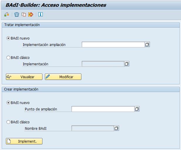 BAdI-Builder, transacción SE19