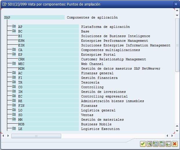 BAdI, transacción SE18, matchcode