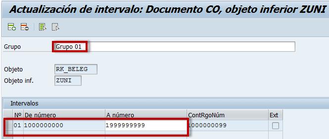 SAP CO, actualización de intervalos