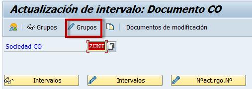 SAP CO actualización de documento CO