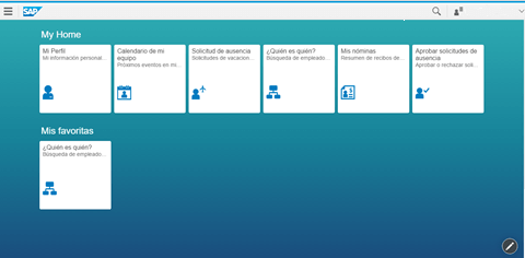 SAP Fiori Launchpad mosáicos