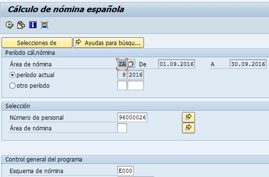 SAP HCM, cálculo de la nómina en españa