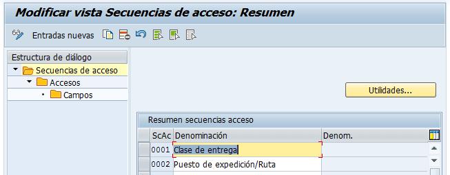 Secuencias de acceso a las clases de mensajes SAP
