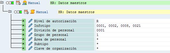 SAP HCM, infotipo de Asignación Organizativa