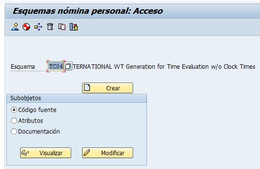 SAP HCM, transacción PE01 para copiar del esquema de tiempos