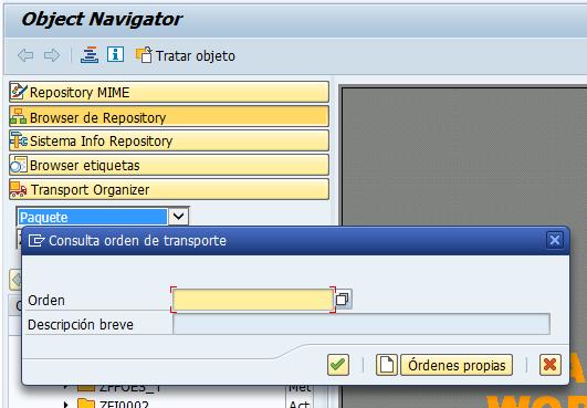 Orden de transporte SAP