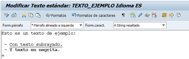 SAP HCM, modificación de textos estándar