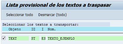 SAP HCM, listado provisional para transportar textos estándar SAP