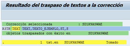 SAP HCM, orden para transportar textos estándar SAP