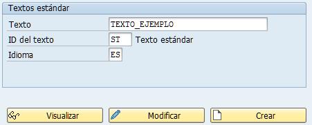 Textos estándar so10 de SAP